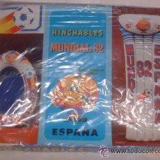 Juguetes antiguos y Juegos de colección: HINCHABLES MUNDIAL ESPAÑA 82, BARQUITA - BAÑERA, EN CAJA. CC. Lote 53626728