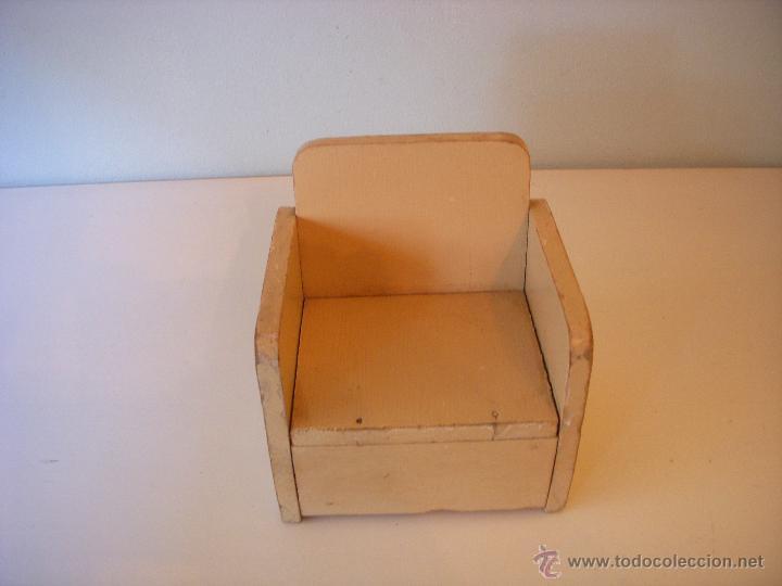 Sillon De Madera Para Muneca Antigua Aprox Ano Comprar Vestidos Y - Como-hacer-un-sillon-de-madera