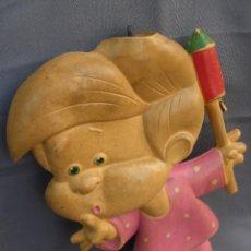 Juguetes antiguos y Juegos de colección: BOLSA DE AGUA EN GOMA DEL MUÑECO TETE DE LA FAMILIA TELERÍN.. Lote 53861036