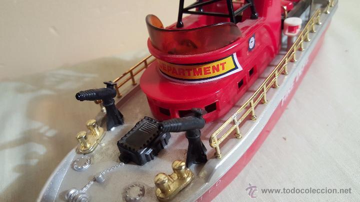 Juguetes antiguos y Juegos de colección: BARCO DE BOMBEROS, FIRE DEPT, DE new bright industrial, 1975, RARO! - Foto 4 - 54109699