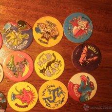 Juguetes antiguos y Juegos de colección: 12 TAZOS MAD CAPS. Lote 54327469