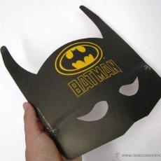 Vintage Juguete Careta Mascara Carton Carnaval Disfraz Superheroe Batman Dc Comics Año 1989