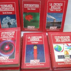 Juguetes antiguos y Juegos de colección: LOTE DE 10 LIBROS DE MUY INTERESANTE BIBLIOTECA DE DIVULGACIÓN CIENTÍFICA. Lote 54488859