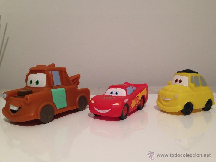 Cars disney pixar 3 coches goma dura lote colec comprar en todocoleccion 54556481 - Juguetes de cars disney ...