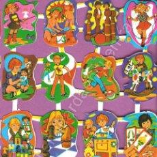 Juguetes antiguos y Juegos de colección: CROMOS JUGAR LA PALMA PALMAR PICAR AÑOS 70 JUGUETES JUEGOS BOLOS MAGIA BALÓN DIÁVOLO PLAYA AJEDREZ. Lote 66838305