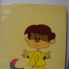 Juguetes antiguos y Juegos de colección: ANTIGUO CUADRO DE TETE DE LA FAMILÍA TELERÍN CON CONCESIÓN L.MORO. Lote 54772770