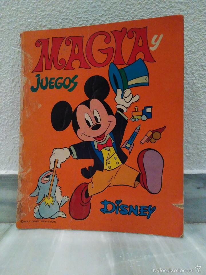 LIBRO MAGIA Y JUEGOS DISNEY - COLECCION VACACIONES - EDITORIAL SUSAETA - MUY RARO 1975 (Juguetes - Varios)