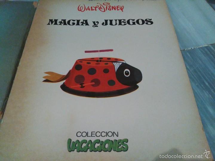 Juguetes antiguos y Juegos de colección: LIBRO MAGIA Y JUEGOS DISNEY - COLECCION VACACIONES - EDITORIAL SUSAETA - MUY RARO 1975 - Foto 2 - 55324007