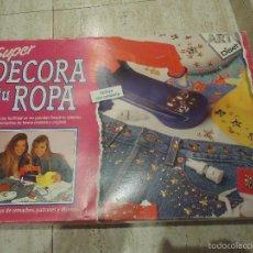 Juguetes antiguos y Juegos de colección: JUEGO SUPER DECORA TU ROPA . Lote 55349870