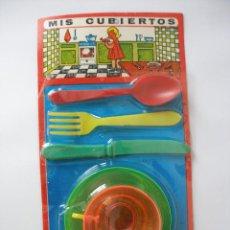 Juguetes antiguos y Juegos de colección: BLISTER CACHARRITOS MIS CUBIERTOS , AÑOS 60 - 70 , CERRADO . Lote 55530946