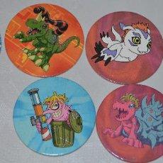 Juguetes antiguos y Juegos de colección: LOTE DE 6 TAZOS DIGIMON-AÑO 2.000. Lote 55695373