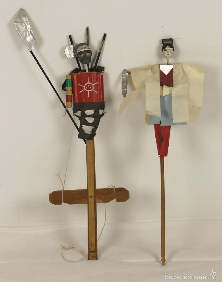 MaderaCartonEstucoMediados Siglo Pareja Marionetas Xx Japonesas De En TuOkiPXZ