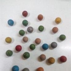 Juguetes antiguos y Juegos de colección: LOTE DE 25 CANICAS ANTIGUAS. Lote 56704128