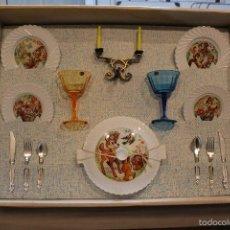 Juguetes antiguos y Juegos de colección: JUGUETE ANTIGUO FELIZ DIA. SET MESA, CUBERTERIA, VAJILLA INFANTIL. PSE SPAIN AÑOS 60. Lote 99751436