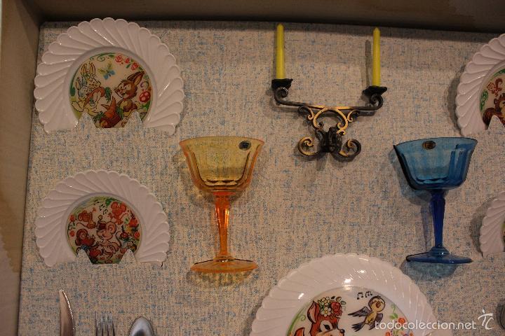 Juguetes antiguos y Juegos de colección: JUGUETE ANTIGUO FELIZ DIA. SET MESA, CUBERTERIA, VAJILLA INFANTIL. PSE SPAIN AÑOS 60 - Foto 2 - 99751436