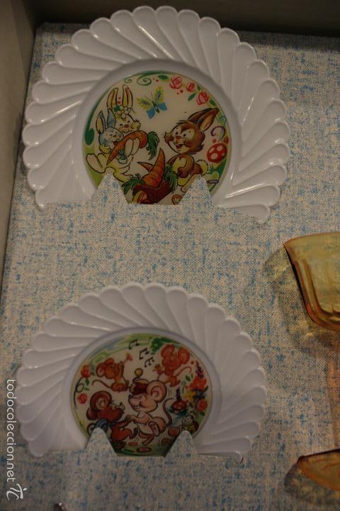 Juguetes antiguos y Juegos de colección: JUGUETE ANTIGUO FELIZ DIA. SET MESA, CUBERTERIA, VAJILLA INFANTIL. PSE SPAIN AÑOS 60 - Foto 6 - 99751436