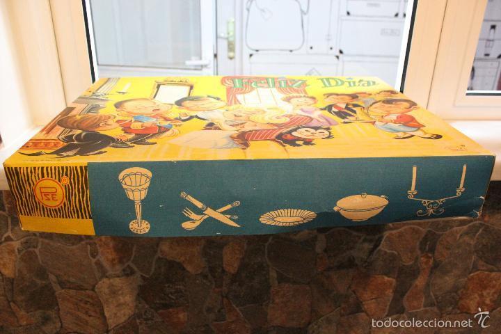 Juguetes antiguos y Juegos de colección: JUGUETE ANTIGUO FELIZ DIA. SET MESA, CUBERTERIA, VAJILLA INFANTIL. PSE SPAIN AÑOS 60 - Foto 10 - 99751436