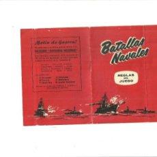 Juguetes antiguos y Juegos de colección: BATALLAS NAVALES-REGLAS DEL JUEGO-LIBRITO CON LAS REGLAS DEL JUEGO. Lote 58379494