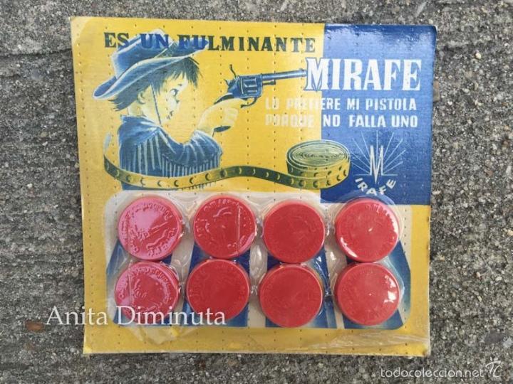 ANTIGUO BLISTER DE FULMINANTES MIRAFE - FULMINANTE - ORIGINAL - LO PREFIERE MI PISTOLA PORQUE NO FAL (Juguetes - Varios)