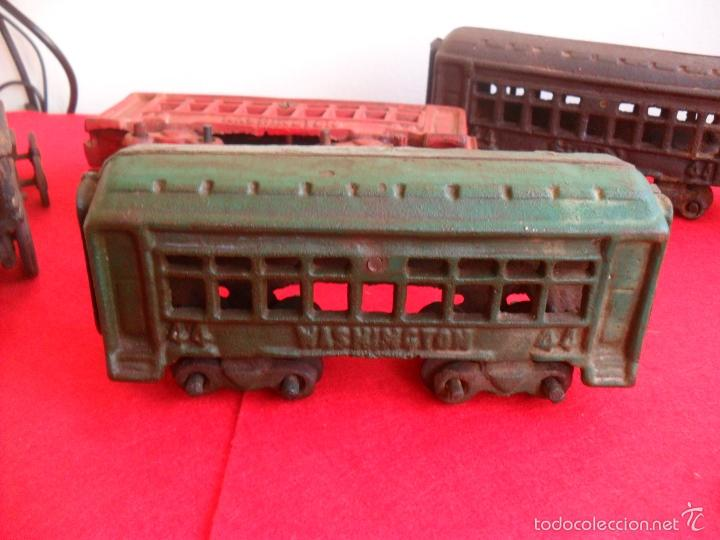 Juguetes antiguos y Juegos de colección: antiguo tren hierro,grande,pesa 5 kilos,años 40? no hay otro,hierro fundido,envio 7,50 certificado - Foto 6 - 177003684