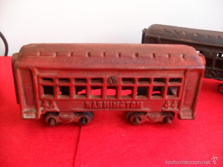 Juguetes antiguos y Juegos de colección: antiguo tren hierro,grande,pesa 5 kilos,años 40? no hay otro,hierro fundido,envio 7,50 certificado - Foto 7 - 177003684
