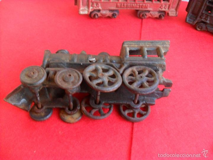 Juguetes antiguos y Juegos de colección: antiguo tren hierro,grande,pesa 5 kilos,años 40? no hay otro,hierro fundido,envio 7,50 certificado - Foto 8 - 177003684