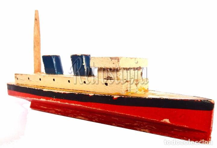 barco barquito de madera años 40 12 cm vendido en venta directa