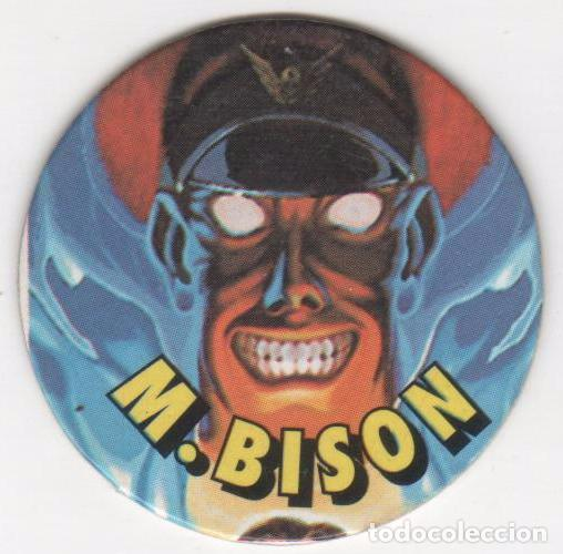 COLECCIÓN TAZOS GOLOSINAS VIDAL CHICLE CHICLES STREET FIGHTER II GAME TAZO  CAPS POGS NÚM 2 M  BISON