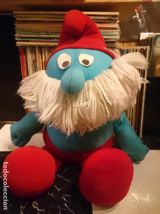 Juguetes antiguos y Juegos de colección: Antiguo muñeco de peluche de papa pitufo Los pitufos - Foto 5 - 62110288