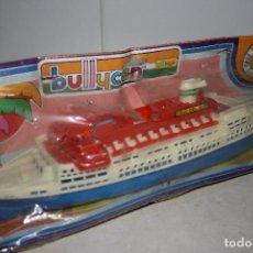 Juguetes antiguos y Juegos de colección: ANTIGUO A ESTRENAR BARCO DE BULLYCAN.. Lote 100439934