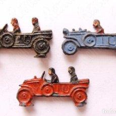 Juguetes antiguos y Juegos de colección: LOTE DE 3 COCHES AUTOMÓVILES DE PLOMO EN MINIATURA AÑOS 30 - 40. Lote 64474251