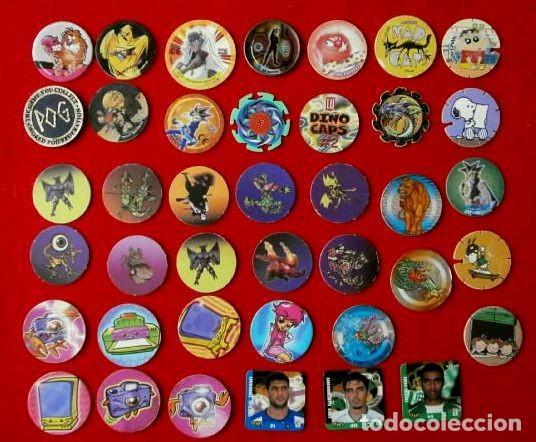 Lote 40 tazos variados (yugioh, pog horror, spa - Sold at