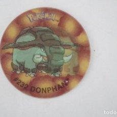 Juguetes antiguos y Juegos de colección: TAZO POKEMON FLIPPO Nº 25 #232 DONPHAN HOLOGRAFICO - SMITHS - 2001 NINTENDO . Lote 65074575