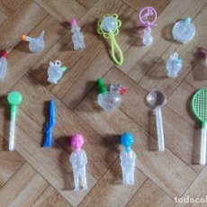 Juguetes antiguos y Juegos de colección: LOTE FIGURAS JUGUETES PLASTICO BOLITAS DE ANIS. Lote 65342583