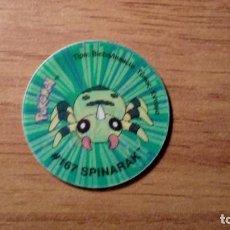 Juguetes antiguos y Juegos de colección: TAZO POKEMON HOLOGRÁFICO - SPINARAK - MATUTANO TASTY - TAZOS 3 - AÑO 2001 . Lote 65754642