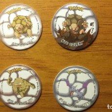 Juguetes antiguos y Juegos de colección: LOTE 4 TAZOS POKEMON - MATUTANO TASTY - 3 TAZOS 2 Y 1 ATTACK - AÑO 2000/2001. Lote 65993038