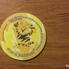 Juguetes antiguos y Juegos de colección: TAZO POKEMON - ELECTABUZZ - MATUTANO TASTY - TAZOS 2 - AÑO 2000. Lote 65994418
