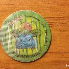 Juguetes antiguos y Juegos de colección: TAZO POKEMON HOLOGRÁFICO - BULBASAUR - MATUTANO TASTY - AÑO 2001 . Lote 65997006