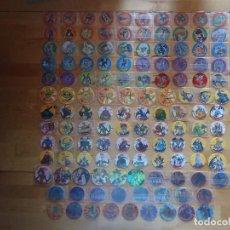 Juguetes antiguos y Juegos de colección: MATUTANO YU-GI-OH! COLECCIÓN COMPLETA MEGA DUEL TAZOS MILLENNIUM ZOOM TAZO CAPS POGS HOLOGRÁFICOS 3D. Lote 67014470