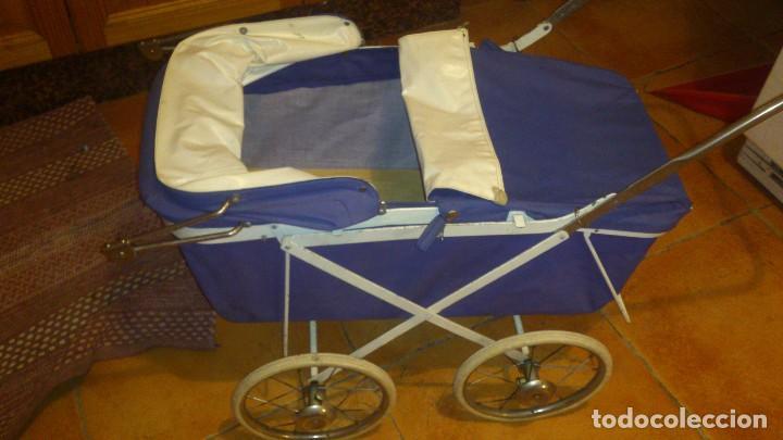 Juguetes antiguos y Juegos de colección: Antiguo carrito de bebe para muñecas de 60/70 cm,o para niñas. - Foto 6 - 67477033