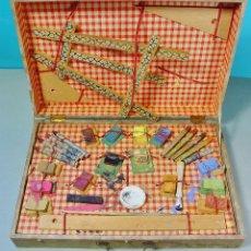 Juguetes antiguos y Juegos de colección: CAJA EN MADERA DE ACUARELAS Y PINTURAS. AÑOS 30-40.. Lote 68021089