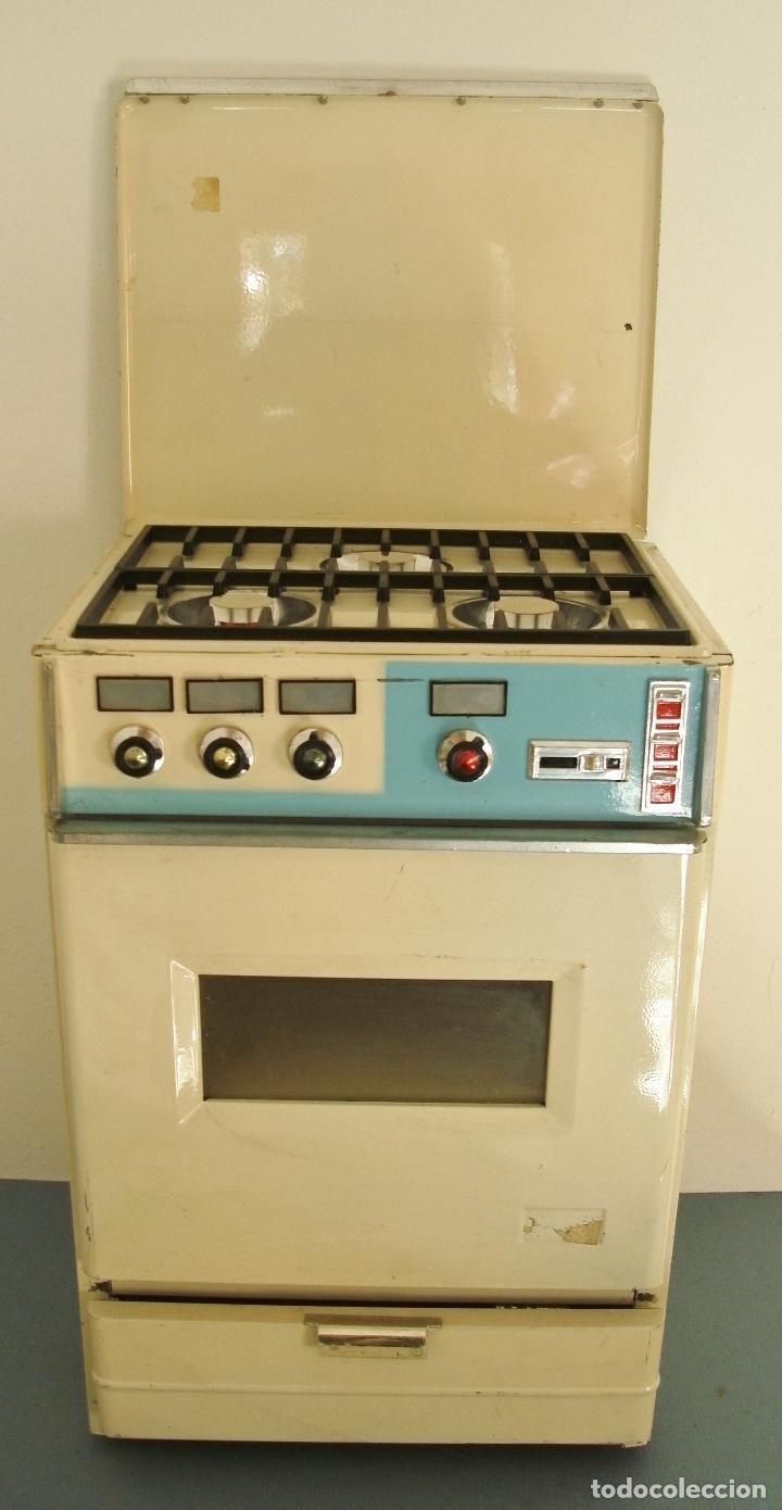 Horno cocina metalica juguete con pilas a os comprar for Cocina juguete segunda mano