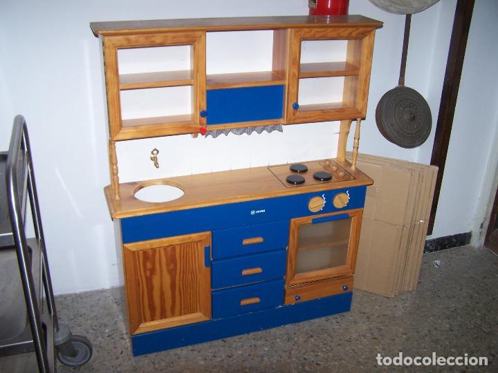 Cocina de madera infantil comprar en todocoleccion for Cocina infantil madera