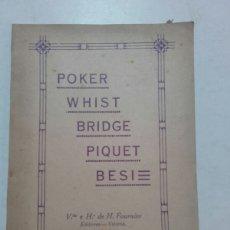 Juguetes antiguos y Juegos de colección: POKER, WHIST, BRIDGE, PIQUET, BESI. HERACLIO FOURNIER. VITORIA 1932.. Lote 73098225