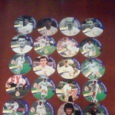 Juguetes antiguos y Juegos de colección: COLECCIÓN DE 28 TAZOS AS REAL MADRID TAZO CAPS POGS NUEVOS.. Lote 74167885