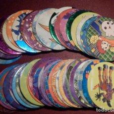 Juguetes antiguos y Juegos de colección: COLECCIÓN DE 47 TAZOS DIFERENTES DIGITAL DIGIMON MONSTERS - TAZO - CAPS POGS - MAGIC BOX INT.- 2000. Lote 248363485