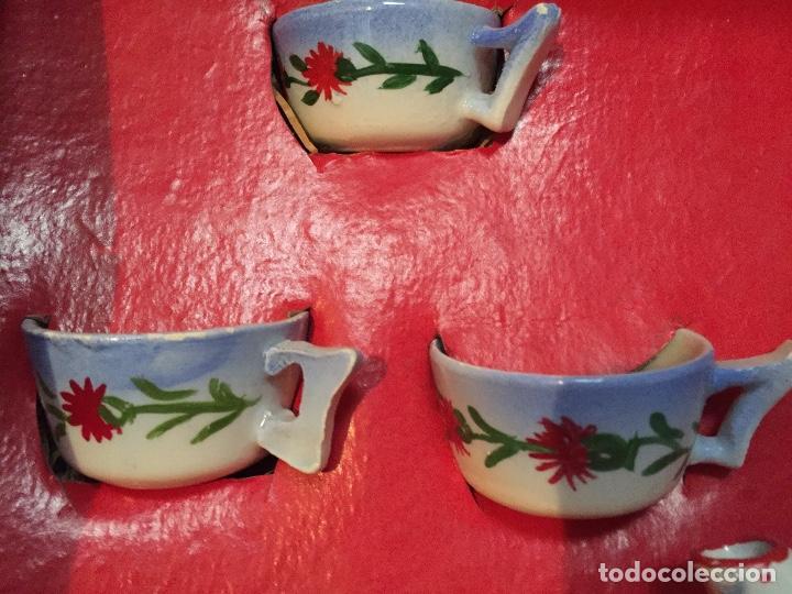 Juguetes antiguos y Juegos de colección: Juego antiguo de cafe en miniatura de cerámica para juego de niños - Foto 5 - 75164611