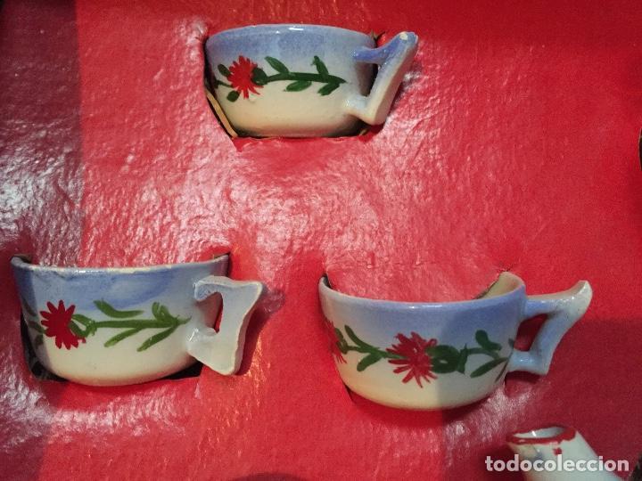 Juguetes antiguos y Juegos de colección: Juego antiguo de cafe en miniatura de cerámica para juego de niños - Foto 7 - 75164611