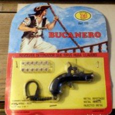Juguetes antiguos y Juegos de colección: BUCANERO - REVOLVER DETONADOR LLAVERO - BLISTER ORIGINAL - JUGUETES EMB MARTI. Lote 140835614