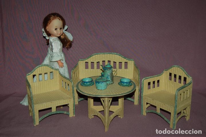 Juguetes antiguos y Juegos de colección: conjunto de sala para muñecas de 40 -45cm antiguo - Foto 2 - 78541493